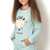 Для юных модниц интересные асимметричные тунички и жакетик р.122-146см., Выкуп сегодня 20.03
