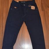 Котоновые брюки на флисе синие и черные 116-152см Taurus