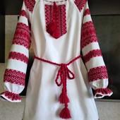 Красивые платья вышиванки  без збора ростовок. Р. 92-172