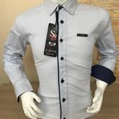 Рубашки для мальчиков.,Турция 11-16 лет.Рукав-трансформер.