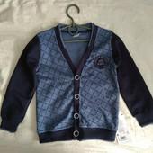 Тёплый кардиган для мальчиков 6-12 лет. бренд «Toontoy» (Турция).