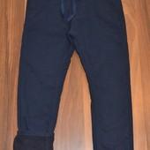 Много размеров в наличии. Утепленные коттоновые брюки на флисе. Размеры 122-164. Синие и черные!