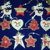 Новогодние украшения из дерева . Быстрый выкуп
