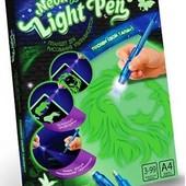 """Рисуй светом - набор креативного творчества """"neon light pen"""" А4"""