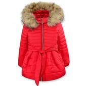 Зимняя куртка красная 104,110,116р