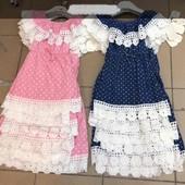 СП Летние новинки, Летний детский трикотажный сарафан для девочек р 116-146 см, ф 2, 3 наличии