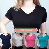 Женские однотонные футболки и майки. Быстрый выкуп