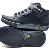 Новинка!!!!Кожаные осенние ботиночки-кроссовки (32-39)унисекс