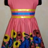 СП летние платья рр.104-128 цены от 155 грн. разные модели и расцветки