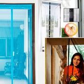 Акция.Антимоскитная сетка на магнитах в дверной проем, 100*210 см