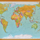 Большие политические и физические  карты Мира,Украины отправка сразу Акция склада!! На подарок супер