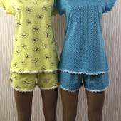 Летняя пижама, в реальности они нежнейшиехлопок 100%. Размер 40-54. Замеры