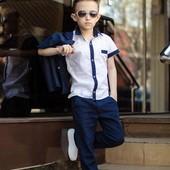 Школьный костюм тройка для мальчика   3 цвета ЛЕН