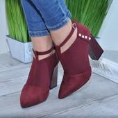 Очень удобные туфли шикарного качества Эко-замша Эко-кожа Размер в размер Каблук 10см