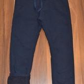 Утепленные коттоновые брюки для школы (синие, черные), 122-164 р. Венгрия