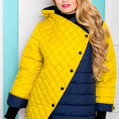 Женские демисезонные куртки 50-54. Очень большемерят.Реально идут до 62 размера. Смотрите замеры.