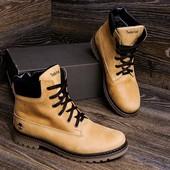 Мужские зимние ботинки Timberland  из натуральных материалов