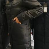Зимнее пальто пуховик, качественный пошив от производителя р.46-54