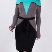 Шок цена! Срочный выкуп! Шикарные вязаные платья office style на р. 42-48 (универсал)