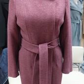 Пальто утепленное, замеры, размер 42-50,Украина, шерсть, отправка сразу