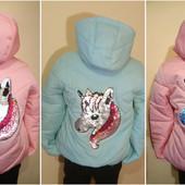 Весенние новинки!!!!! Модные демисезрнные куртки и жилетки для девочек . Выкуп от 1 ед