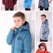 Демисезонная куртка-жилет для мальчика р.128-152