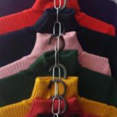 Выкуп от 1ед! 23 цвета- Теплые плотные мягчайшие водолазки гольфы рубчик универсального размера
