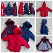 Демисезонные курточки, курточки-жилет 2в1 р.92-110, 128-152