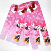 Детские Лосины Disney Minnie Mouse,размеры 98(3г), 104( 4г), 116(6л), 128(8л)