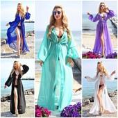 Новинка!!! Пляжні туніки міні, міді, з рукавом, багато кольорів, швидкий збір!!! Є наложка!!!