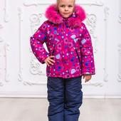 Теплые зимние комплекты для девочек р.92-110