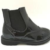 Лаковые ботинки для девочек, Испания. Оптовая цена