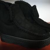 Теплые,удобные и симпатичные меховые ботинки р.36,37,38,39,40,41