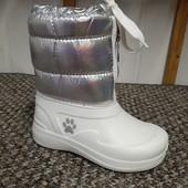 Сапоги дутики ❤❤❤Маме и доченьке ❤❤❤для маленьких модниц! В слякоть и мокрый снег супер решение!