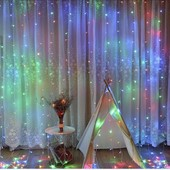 Новогодние светодиодные гирлянды шторы. Наличие 1,5*1,2 м, 2*2 м и новый сбор!