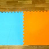 Мягкие коврики пазлы 60 на 60 см.