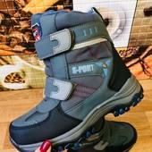 В наличии 34,35,36,37р!!! Термо ботинки зима. Акционная цена! Размеры 33-38