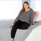 Esmara® Lingerie xl,2xl,3xl хлопковый комплект лонгслив и джоггеры, для дома и отдыха, Германия