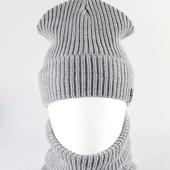 Теплі Комплекти на флісі шапка+хомут унісекс