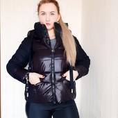 Теплая молодёжная осенняя женская куртка с вязкой