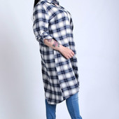 Платье-рубашка больших размеров 50-56. Фото 1 есть в наличии.