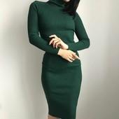 Силуэтное платье в рубчик размер стандарт