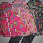 Демисезонные термо костюмы,куртки для мальчика и девочки ,аналог reima 80-116