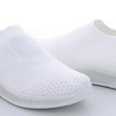 Женские кроссовки с трикотажным верхом р36-41