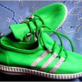 Яркие текстильные кроссовки с перфорацией 37-40 р-р