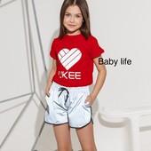 Костюм девочке Likee принт светится и шорты