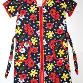 Женские халаты, 100% Хлопок, Узбекистан, много расцветок!!! Размеры 44,46