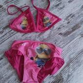 Яркие раздельные купальники девочкам 3-12лет,3модели Дисней наличие, сбор
