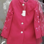 Выкуплено Серый цвет. Пальто для девочки 128-134-140-146 Кашемир