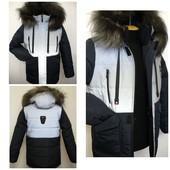 Зимние куртки для мальчиков и девочек, р.128-158, 104-122